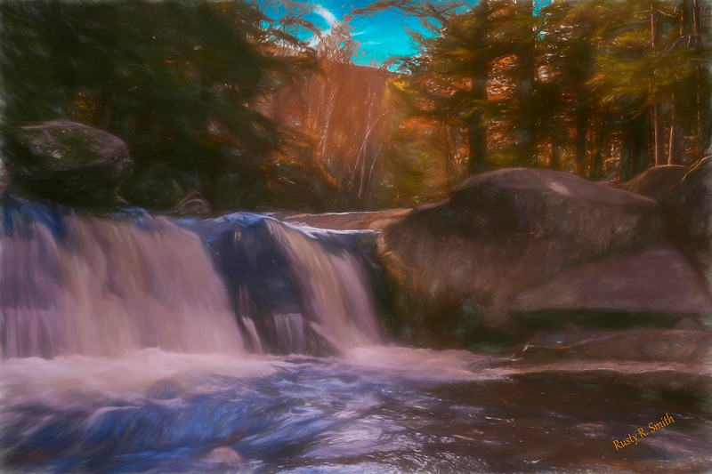A small New England waterfall.