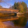 A beautiful Autumn day at the Hemlock Covered bridge,Fryeburg Ma