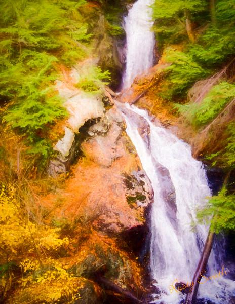 Double waterfalls,Sages ravine Connecticut