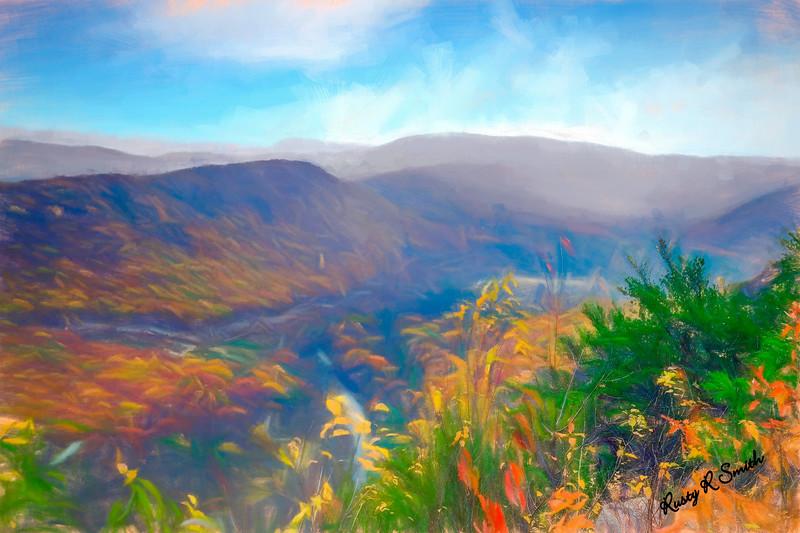 Autumn mountain view,Pennsylvania.