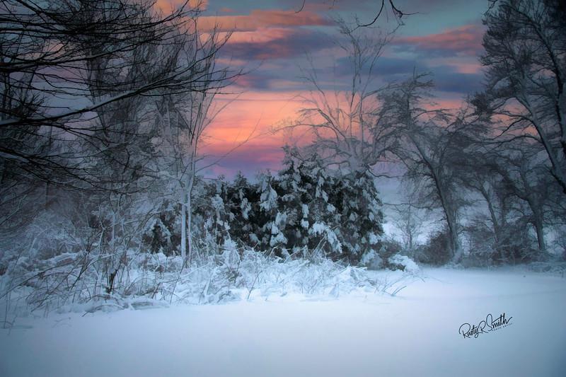 Winter Snow Scene.