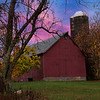 Autumn farm scene.