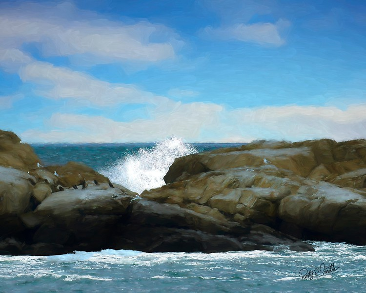Rocky Maine seascape.
