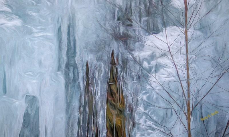 Icicles in nature