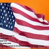 American Flag with message.