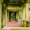 A garden house entryway.