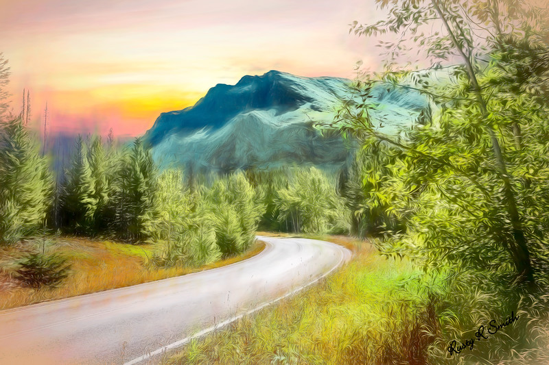 Western Mountain Landscape art photograph.