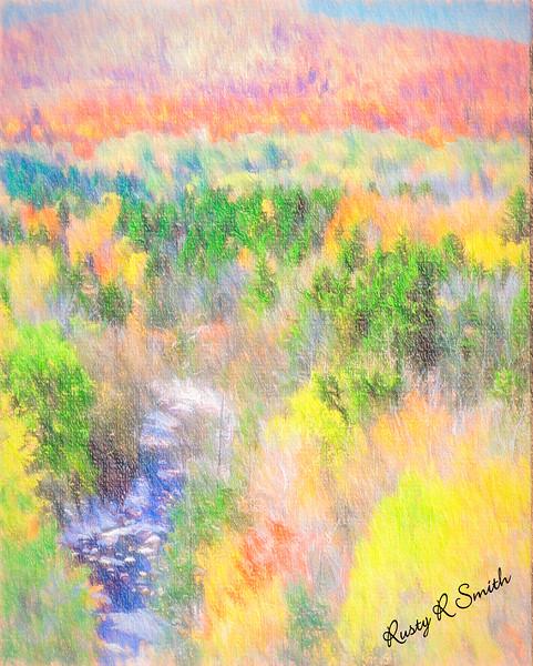 Southern Vermont landscape.