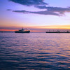 A horizontal Stock Photograph of a sunset over Manila Bay,Philippines