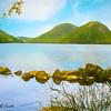 Soft art photograph Jordan Pond Acadia Nat. Park Maine