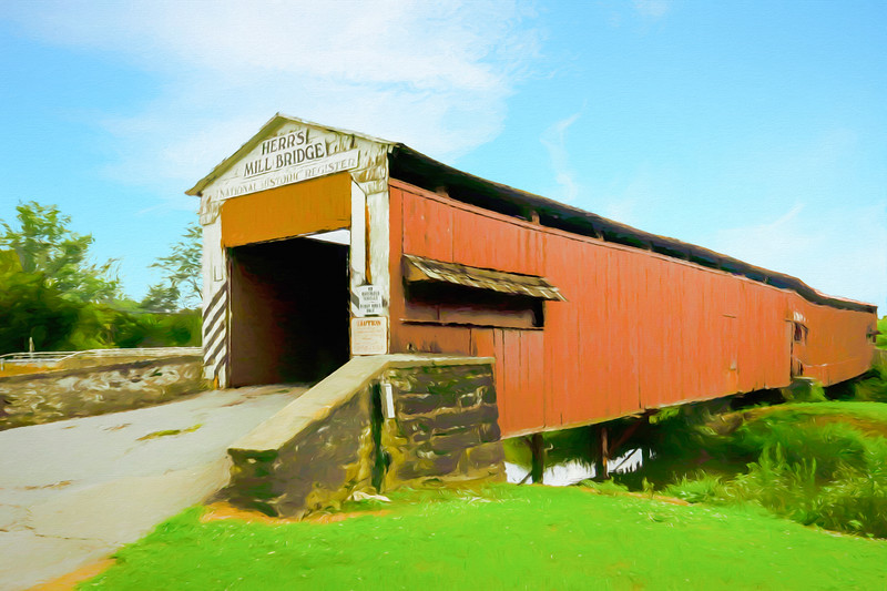 Herrs mill covered  Bridge Lancaster County Pa.