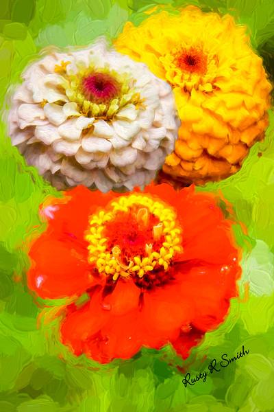 Three flowers.