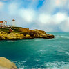 Soft art photo of  Nubble Light in coastal York, Maine.