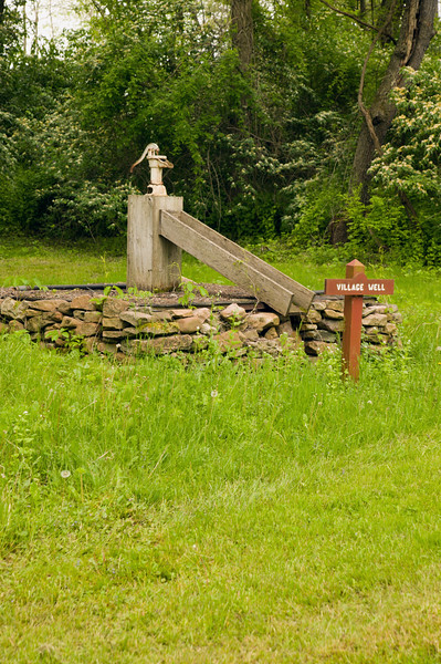 The village well at Curtin Villiage iron works in central Pennsylvania