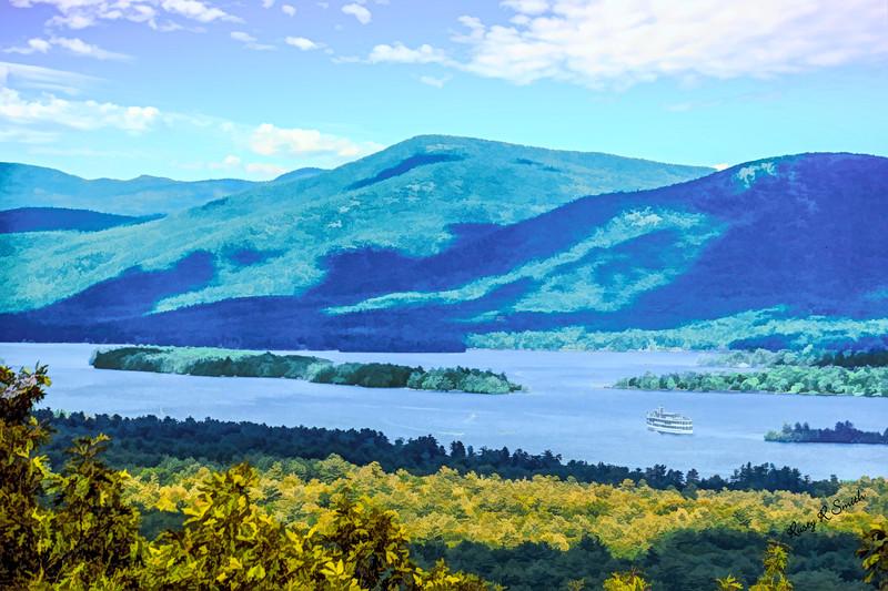 A view of Lake George,Adirondack Park New York.