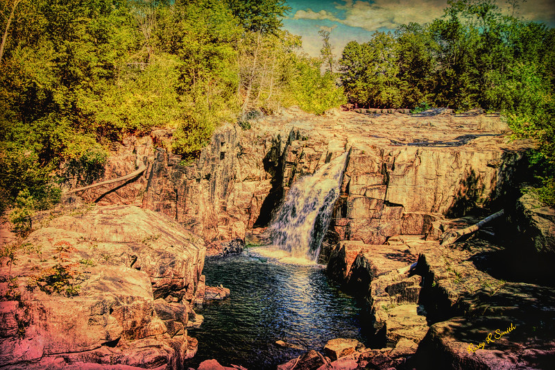 A waterfall Landscape.