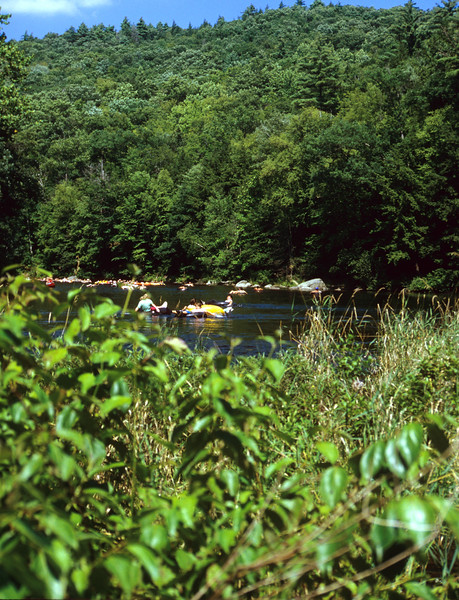 People tubing on the Farmington River Ct.