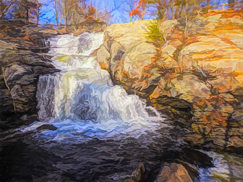 A beautiful Connecticut waterfall.