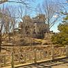 An artistic view of Gillette Castle. A Connecticut Sate Park.