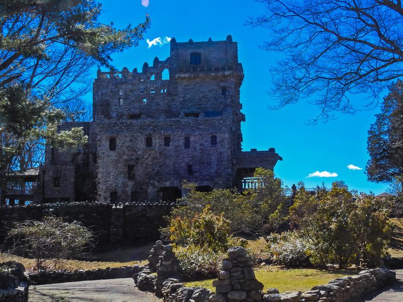 A front view of Gillette Castle. A Connecticut State Park