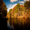 Horizontal Stock Photograph. A Fall scenic view of the Natchaug River.