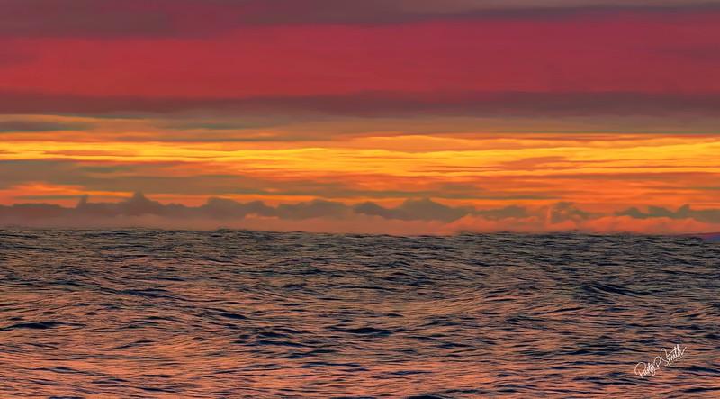 Soft Art sunrise,Meigs Point Beach at Hammonasset Beach State Park,  Connecticut.
