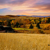 Autumn farm landscape Northern New Hampshire.