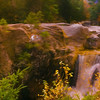 An artistic view of Screw Augar Falls,Maine