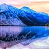 Mountain Reflection in Lake McDonald,Glacier National patk Montana.