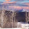 Winter mountain scene in New hampshire.