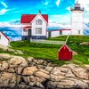Nubble light York Maine.