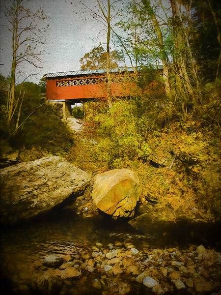 A view of the Chiselville Covered Bridge,Arlington Vermont.