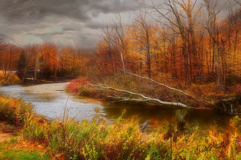 A cloudy autumn day in Northern New Hampshire.