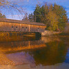 A beautiful Autumn day at the Hemlock Covered bridge,Fryeburg Maine