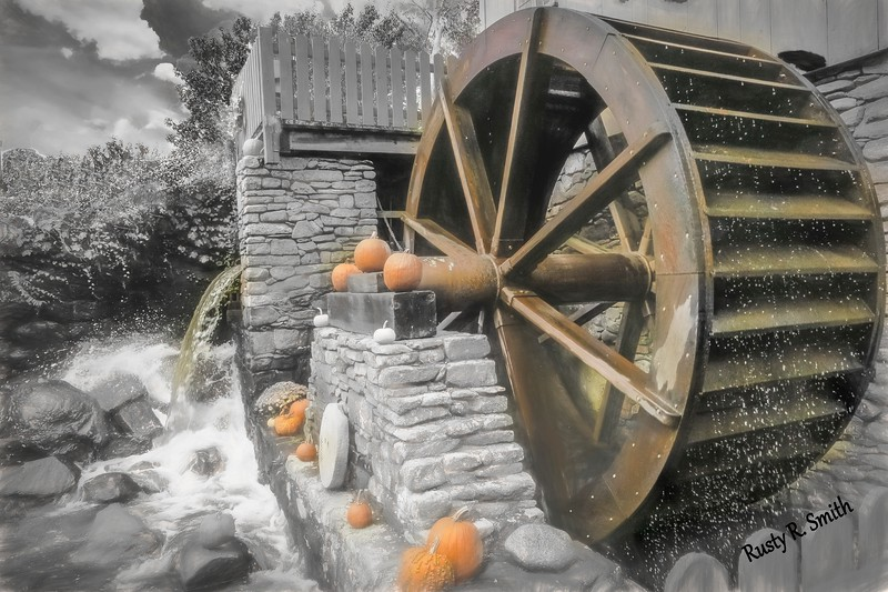 Working Water Wheel.