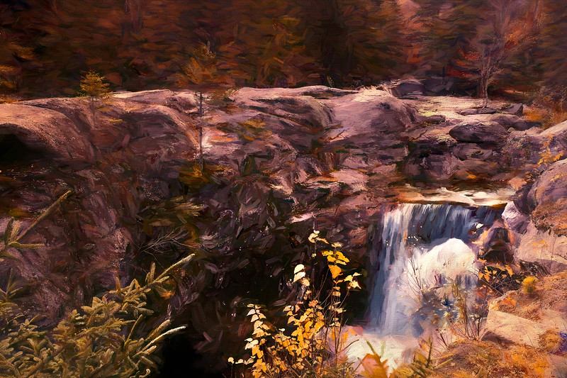 Screw Augar Falls in Grafton Notch State Park,Maine