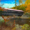 Albany Covered Bridge.White Mountain National Forest,New Hampshire.