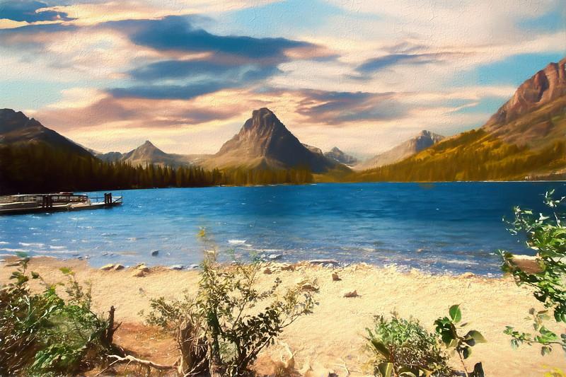 Two Medicine lake Glacier Nat. Park Montana