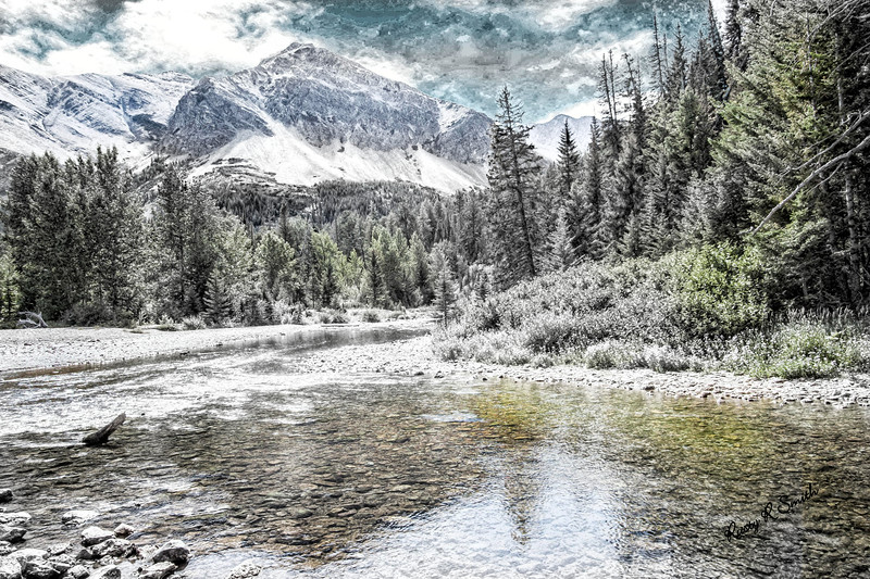 Art landscape North Western Montana.