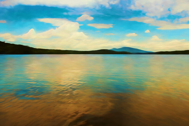 An artistic view of Somerset Reservoir in Southern Vermont