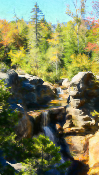 A beautiful fall day at Screw Auger Falls in Grafton Notch State Park,Maine