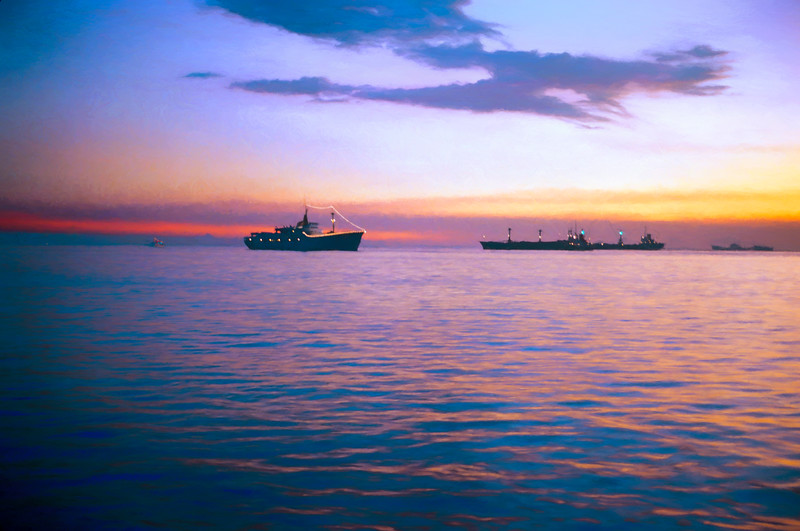Sunset on Manila Bay