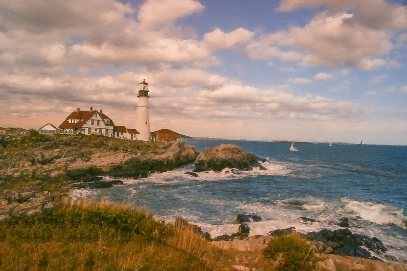 Portland Head Light. Watchers of the sea