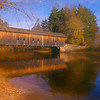 A beautiful Autumn day at the Hemlock Covered bridge,Fryeburg Ma