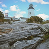 Pemiquid Lighthouse in Maine. Watchers of the sea.
