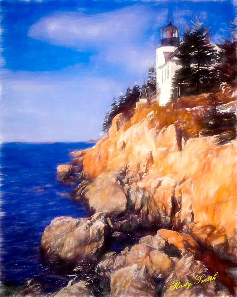 Bass Harbor Lighthouse,Acadia Nat. Park Maine.