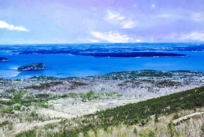 A view from Cadillac Mountain Maine.