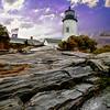 Pemaquid Lighthouse Maine Coast.