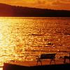 A beautiful sunset Brassua  lake in northern Maine