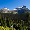 A horizontal stock photograph of a mountain view from the going to the sun road.East Glacier Nat. Park